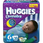 Huggies ® Overnite Diaper Size 6, Jumbo, Unique, Unisex - BG of 20 EA