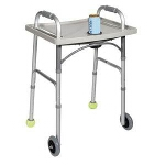 Universal Walker Tray with Cup Holder, Size: 23