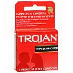 Cardinal Health Trojan Condom, Non-lubricated - BX of 3 EA