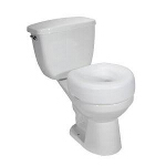 Raised Toilet Seat, 300 lb Weight Capacity - 1 EA