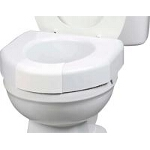 Maddak Inc Basic Open Front Elevated Toilet Seat with Closed Front Option 350lb, 16-1/8