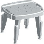 Maddak Inc Bath Safe Adjustable Shower Seat with Arms Retail 300lb, 22-1/2
