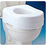 Carex ® Raised Toilet Seat Standard, 15