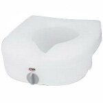 Carex ® E-Z Lock Raised Toilet Seat without Handles, 15-1/2