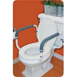 Carex ® Toilet Support Rail, Width Between Arms: 16
