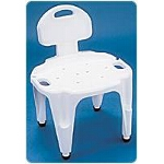 Carex ® Adjustable Composite Bath and Shower Seat with Back, 25-1/4