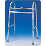 Carex Health Brands Single-button Folding Walker without Wheels 21