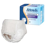 Attends Overnight Protective Underwear with Leakage Barriers, Medium 34