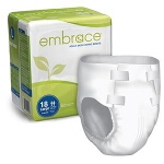 Professional Medical Embrace Ultimate-absorbency Brief with Leakage Barrier Medium, 32