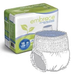 Professional Medical Embrace Adult Skin Caring Underwear with Leakage Barrier Extra-Large, White - Qty: BG of 14 EA