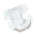 DryTime ® Baby Diapers Size 3, 12 to 24lb, Disposable, Latex-free, Anti-Leak Cuffs, Soft Foam-Elastic Waistband - Qty: BG of 24 EA