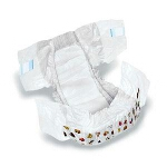 DryTime ® Baby Diapers Size 6, Over 35lb, Disposable, Latex-free, Anti-Leak Cuffs, Soft Foam-Elastic Waistband - Qty: BG of 15 EA