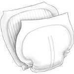 Kendall Healthcare Wings Day Regular Contoured Insert Pad 13-2/5