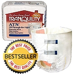 Tranquility ATN All-Through-The-Night Youth Disposable Briefs ( Extra Small Size 18